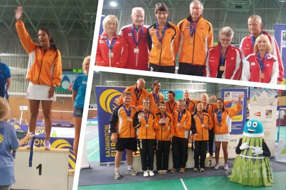 Medaille-regen Nederland op European Senior Championships 2016 - Badminton Veteranen Nederland