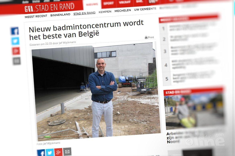 Nieuw badmintoncentrum wordt het beste van België