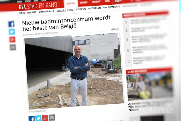 Nieuw badmintoncentrum wordt het beste van België - Gazet van Antwerpen