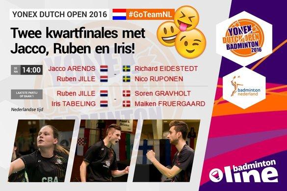 Dag 3: Iris, Ruben en Jacco in actie! - René Lagerwaard / Alex van Zaanen / badmintonline.nl