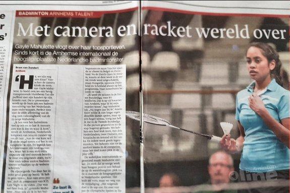 Deze afbeelding hoort bij 'Arnhems talent Gayle Mahulette: Met camera en racket de wereld over' en is gemaakt door De Gelderlander