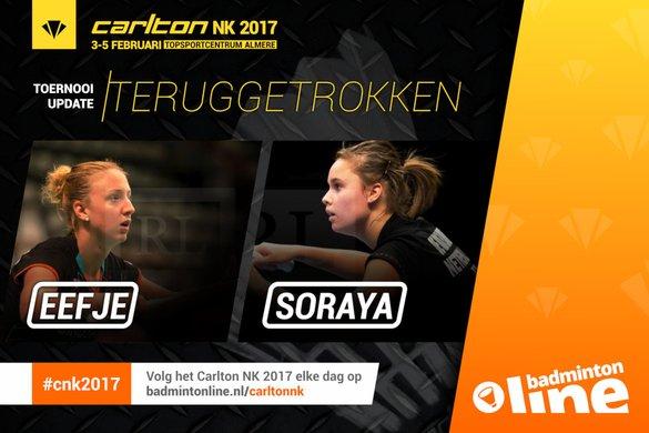 Eefje Muskens teruggetrokken uit Carlton NK Badminton - René Lagerwaard / badmintonline.nl