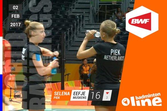 Wereldranglijst van donderdag 2 februari 2017: geblesseerden incasseren - NOS / badmintonline.nl
