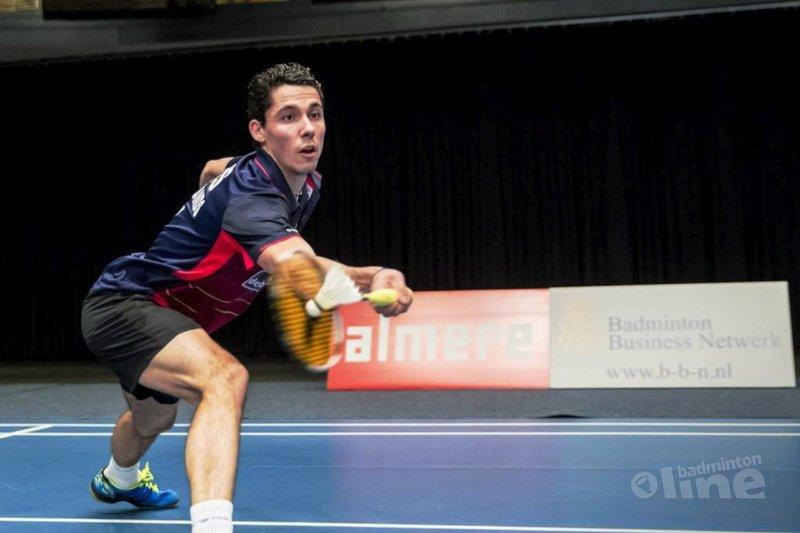 Erik Meijs had een off-day tijdens het Carlton NK Badminton 2017 - Alex van Zaanen