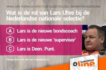 Wat is de rol van Lars Uhre bij de Nederlandse nationale selectie?