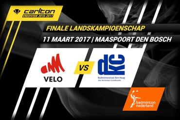 11 maart Finale Landskampioenschap Carlton Eredivisie VELO - DKC