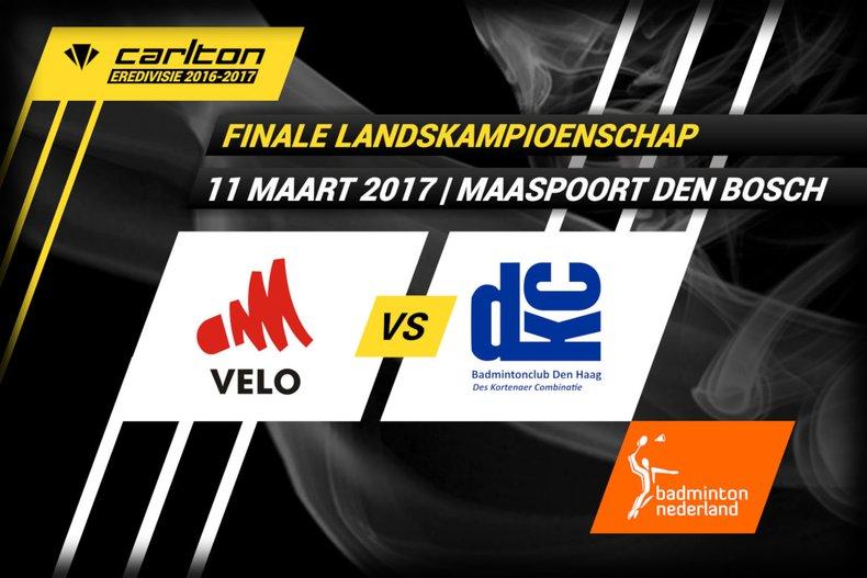 Deze afbeelding hoort bij 'Haagse DKC plaatst zich voor Carlton Eredivisie finale tegenover VELO' en is gemaakt door badmintonline.nl