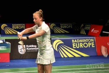 Kwartfinales voor Mark Caljouw en Eefje Muskens / Selena Piek tijdens EK Badminton