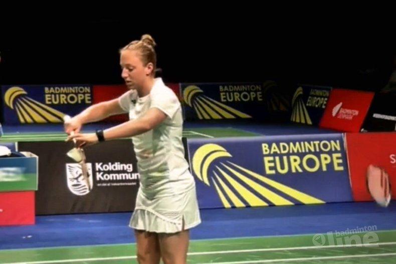 Deze afbeelding hoort bij 'Eefje Muskens neemt afscheid tijdens Dutch Open met gelegenheidspartner Imke van der Aar' en is gemaakt door Badminton Europe