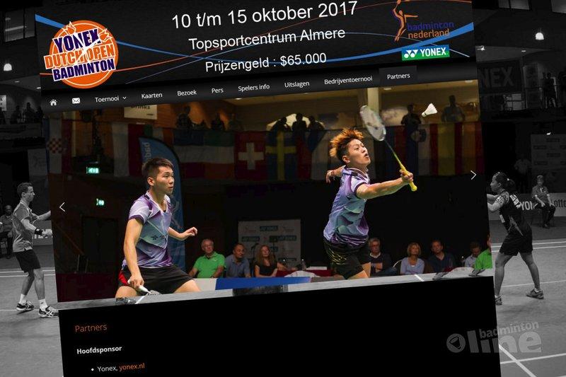 Japans badmintonmerk wederom naamsponsor Dutch Open in Almere - Badminton Nederland