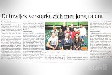 Carlton Eredivisie-club Duinwijck versterkt zich met jong talent