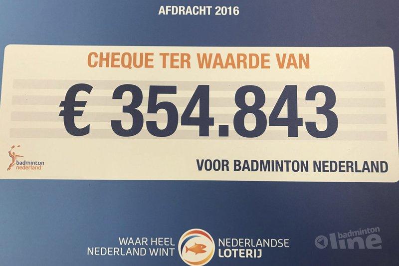 Nederlandse Loterij ondersteunt badmintonsport met 354.843 euro - Badminton Nederland
