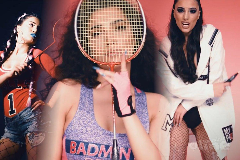 Azerbeidzjaanse Samra Rahimli zingt liedje over badminton. Echt waar.