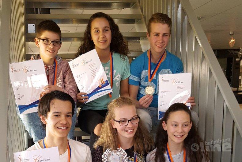 Deze afbeelding hoort bij 'Geldrops team na Brabants kampioen ook Nederlands Kampioen' en is gemaakt door BC Geldrop