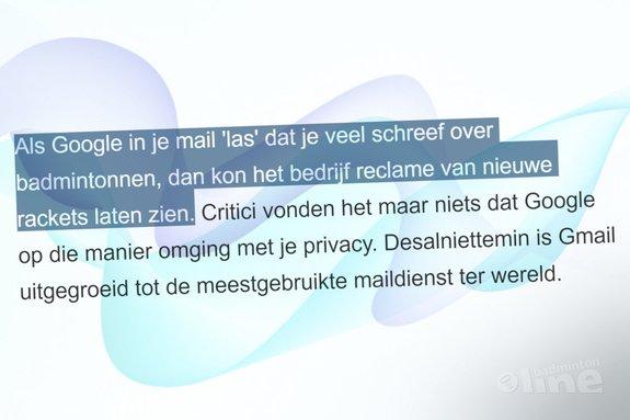 Google scant geen Gmail-mails meer: badminton als voorbeeld - badmintonline.nl