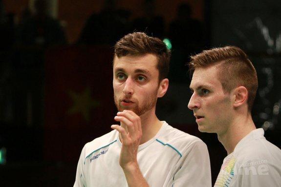 Deze afbeelding hoort bij 'Uitdagend potje badminton tegen Olympisch en wereldkampioen Tony Gunawan tijdens US Open 2017?' en is gemaakt door Jos van den Einde