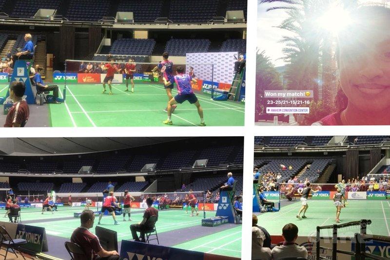 Nederlandse dubbelaars hebben het zwaar in Anaheim - Badminton Nederland, Gayle Mahulette