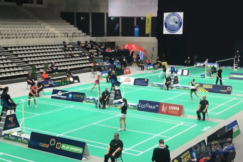 Tussentijdse uitslagen in Leuven tijdens Belgian International - Badminton Nederland