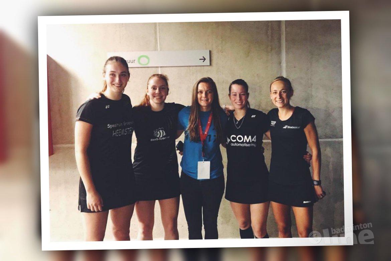 Cheryl Seinen wint finale Belgian International 2017 tijdens debuut met partner Piek