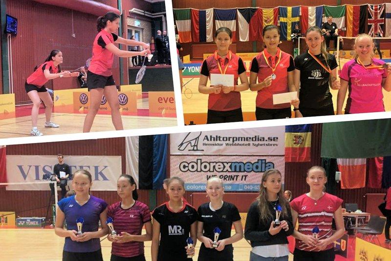 Twee finaleplaatsen voor jeugd U15 en U17 in Zweden - Badminton Nederland