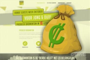 Badminton Nederland heeft zak met geld voor lokale initiatieven