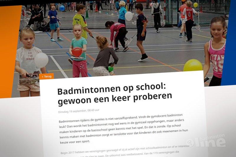 Badmintonnen op school: gewoon een keer proberen! - Badminton Nederland