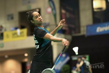 Nederlands Kampioene badminton Gayle Mahulette op medaillekoers in Cardiff