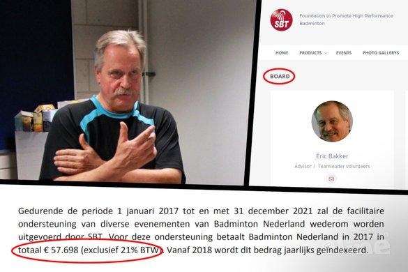Paul Kleijn: ik trek de integriteit van Eric Bakker in twijfel - Jos van den Einde / Stichting Bevordering Topbadminton / Badminton Nederland