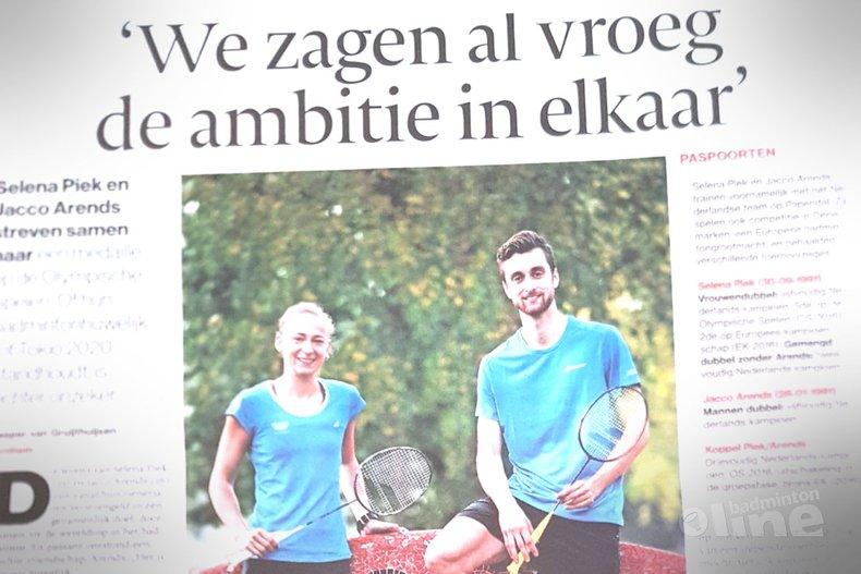 Deze afbeelding hoort bij 'Badmintonhuwelijk Jacco Arends en Selena Piek: We kunnen niet anders dan ons kwetsbaar opstellen' en is gemaakt door De Gelderlander
