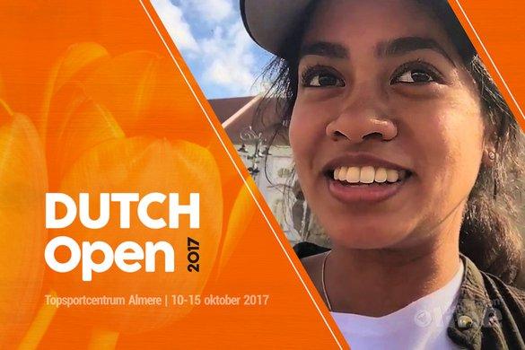 Gayle Mahulette enige Nederlandse speler in vrouwenenkelspel hoofdtoernooi Dutch Open 2017 - Gayle Mahulette / badmintonline.nl