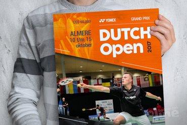 Dutch Open in Topsportcentrum Almere van 10 t/m 15 oktober 2017