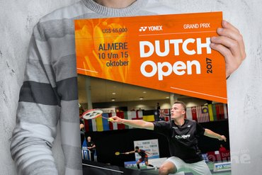 Dutch Open in Topsportcentrum Almere van 10 t/m 15 oktober 2017