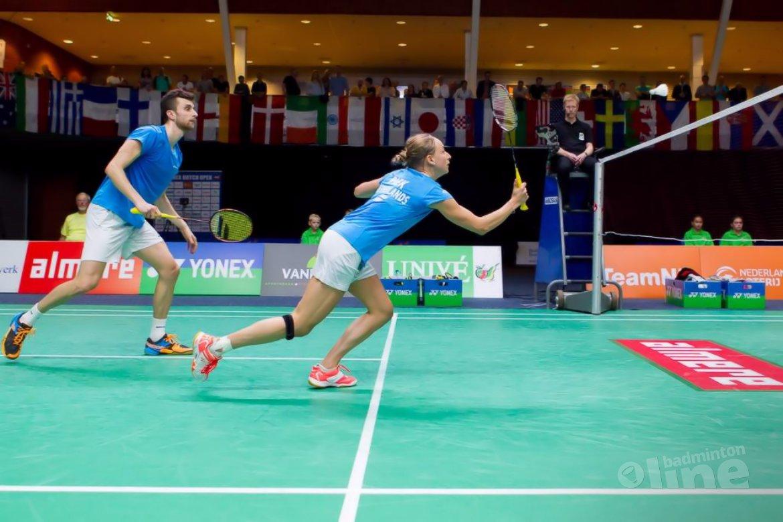 Jacco Arends en Selena Piek bij badmintontoernooi in de Achterhoek