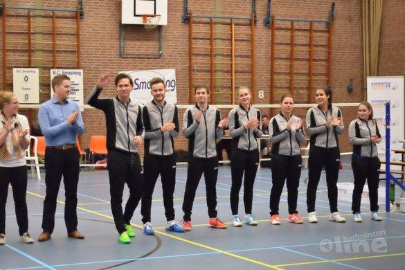 Smashing is niet langer de underdog in de Nederlandse Badminton Eredivisie - BC Smashing