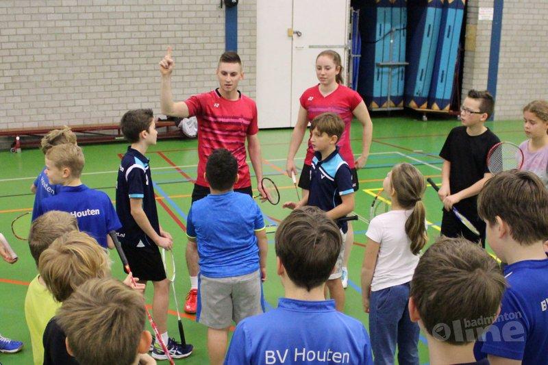 Junioren BV Houten genieten van les topbadmintonners - BV Houten