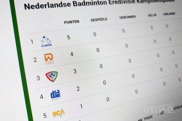 Tweede fase Nederlandse Badminton Eredivisie 2017-2018 dit weekend van start