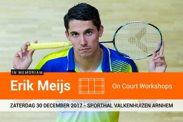Badmintontrainers en jeugdspelers uitgenodigd voor Erik Meijs On Court Workshops
