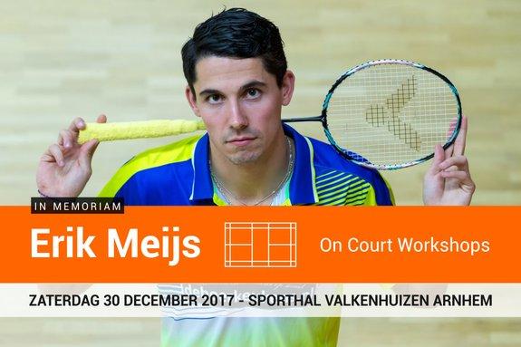 Deze afbeelding hoort bij 'Badmintontrainers en jeugdspelers uitgenodigd voor Erik Meijs On Court Workshops' en is gemaakt door René Lagerwaard / badmintonline.nl