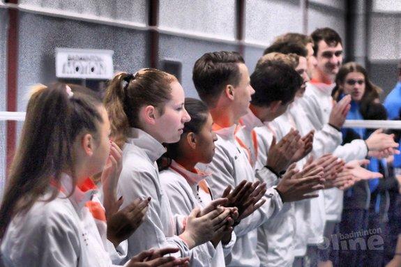 Deze afbeelding hoort bij 'Duinwijck wil 25e landstitel Nederlandse Badminton Eredivisie vieren in oude Duinwijckhal' en is gemaakt door Geert Berghuis / badmintonline.nl
