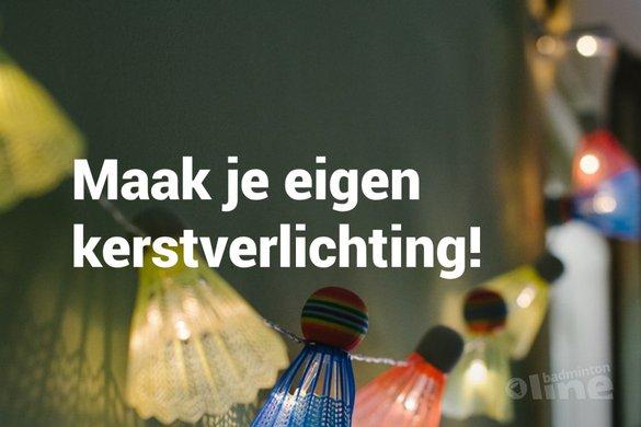 Doe-het-zelf: maak je eigen kerstverlichting met badmintonshuttles! - Kittenhood / badmintonline.nl