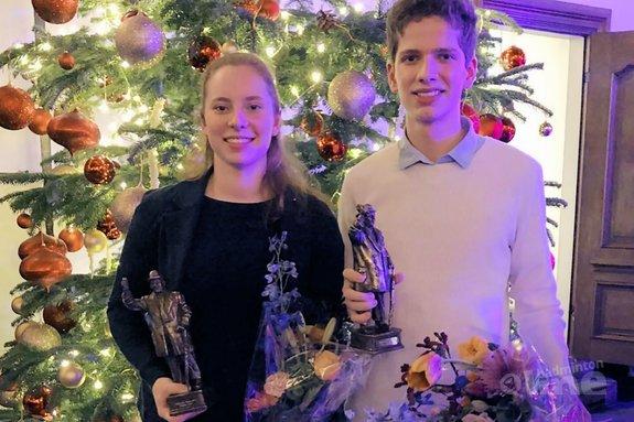 Debora Jille en Ties van der Lecq talenten van Haarlem - Debora Jille