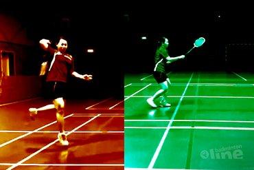 Alternative footwork towards the rear court forehand corner
