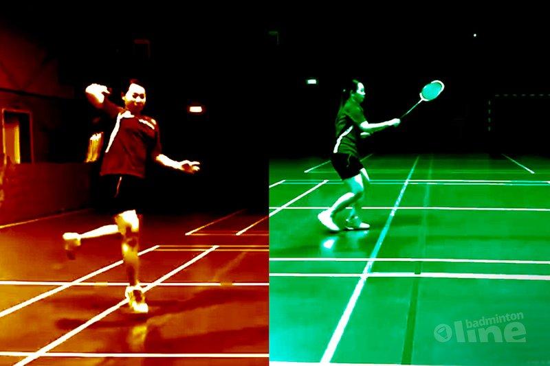Alternative footwork towards the rear court forehand corner  - OroDenmark