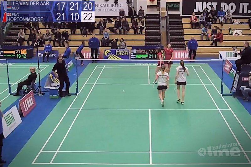 Bittere aftocht in Estland voor Debora Jille en Imke van der Aar - Badminton Europe