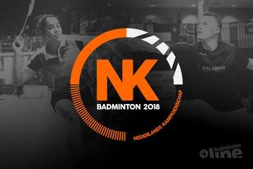 Hoofdtoernooi Nederlandse Kampioenschappen Badminton op zaterdag 3 en zondag 4 februari 2018