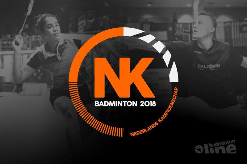 Hoofdtoernooi Nederlandse Kampioenschappen Badminton op zaterdag 3 en zondag 4 februari 2018 - badmintonline.nl