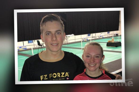Tweede plaats voor Brian Wassink en Charissa Kuiper bij de Swedish Junior 2018 - Badminton Nederland