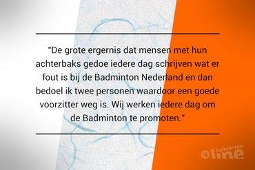 Tevredenheidsonderzoek: BNL-vrijwilliger ergert zich aan berichtgeving over Badminton Nederland
