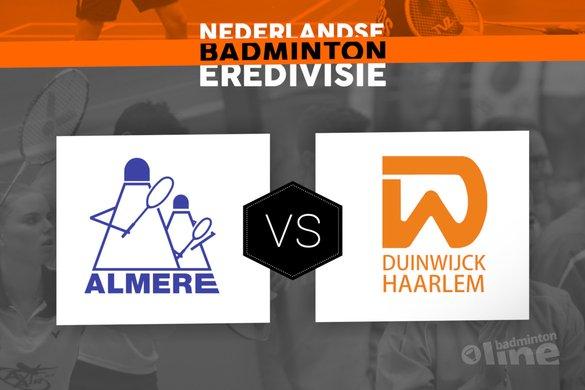 Zaterdag 10 maart finale Landskampioenschap Nederlandse Badminton Eredivisie: Almere tegen Duinwijck - badmintonline.nl
