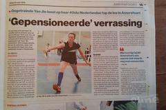 Ongetrainde Yao Jie leest op haar 40ste Nederlandse top de les in Amersfoort